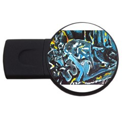 Man And Woman Usb Flash Drive Round (2 Gb)  by timelessartoncanvas