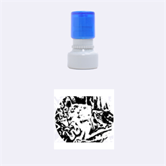 Man And Woman Rubber Round Stamps (small) by timelessartoncanvas
