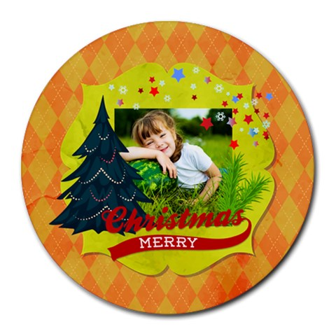 Xmas By Xmas   Collage Round Mousepad   Dlqgco1u13vc   Www Artscow Com 8 x8 Round Mousepad - 1