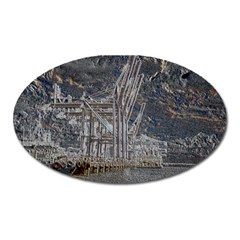 Industry V Oval Magnet by InsanityExpressed