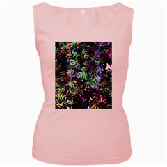 Colour Play Flowers Women s Pink Tank Tops by InsanityExpressed