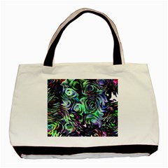 Colour Play Flowers Basic Tote Bag (two Sides)  by InsanityExpressed