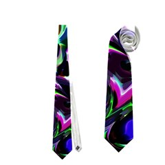 Colour Play Flowers Neckties (two Side)  by InsanityExpressed