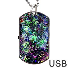 Colour Play Flowers Dog Tag Usb Flash (two Sides)  by InsanityExpressed