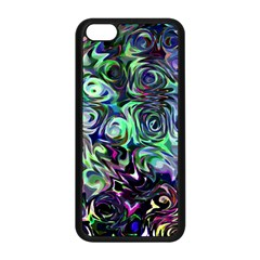 Colour Play Flowers Apple Iphone 5c Seamless Case (black) by InsanityExpressed