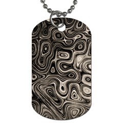 Tile Reflections Alien Skin Dark Dog Tag (Two Sides) by InsanityExpressed