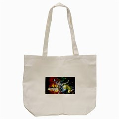Abstract Music Painting Tote Bag (cream)  by timelessartoncanvas