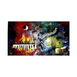 Abstract Music Painting Small Memo Pads 3.75 x3.75  Memopad