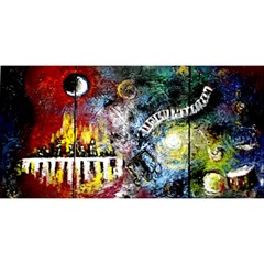 Abstract Music Painting You Are Invited 3d Greeting Card (8x4)