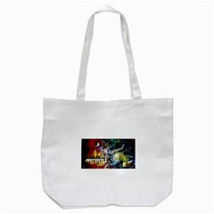 Abstract Music Painting Tote Bag (white)  by timelessartoncanvas