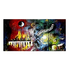 Abstract Music Painting Satin Shawl by timelessartoncanvas
