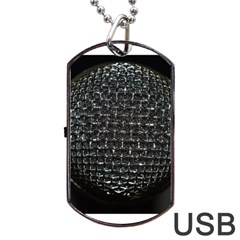 Modern Microphone Dog Tag Usb Flash (two Sides)  by timelessartoncanvas