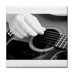Guitar Player Tile Coasters by timelessartoncanvas