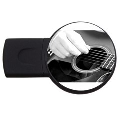 Guitar Player Usb Flash Drive Round (2 Gb)  by timelessartoncanvas