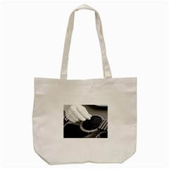Guitar Player Tote Bag (cream)  by timelessartoncanvas