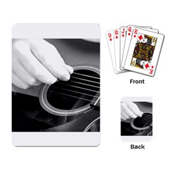 Guitar Player Playing Card by timelessartoncanvas