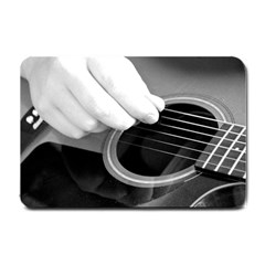 Guitar Player Small Doormat  by timelessartoncanvas