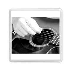 Guitar Player Memory Card Reader (square)  by timelessartoncanvas