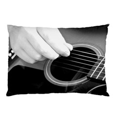 Guitar Player Pillow Cases (two Sides) by timelessartoncanvas