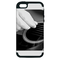 Guitar Player Apple Iphone 5 Hardshell Case (pc+silicone) by timelessartoncanvas
