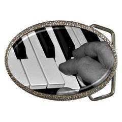 The Piano Player Belt Buckles