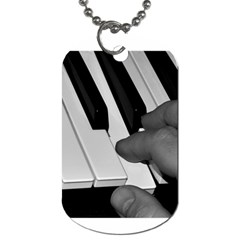 The Piano Player Dog Tag (two Sides) by timelessartoncanvas