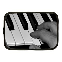 The Piano Player Netbook Case (medium)  by timelessartoncanvas
