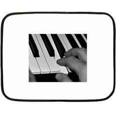 The Piano Player Fleece Blanket (mini) by timelessartoncanvas