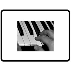 The Piano Player Fleece Blanket (large)