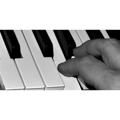 The Piano Player You Are Invited 3d Greeting Card (8x4)