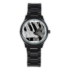 The Piano Player Stainless Steel Round Watches by timelessartoncanvas