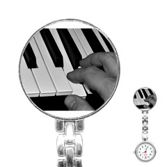 The Piano Player Stainless Steel Nurses Watches by timelessartoncanvas