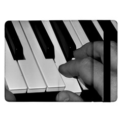 The Piano Player Samsung Galaxy Tab Pro 12 2  Flip Case by timelessartoncanvas