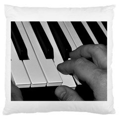 The Piano Player Large Flano Cushion Cases (one Side)  by timelessartoncanvas