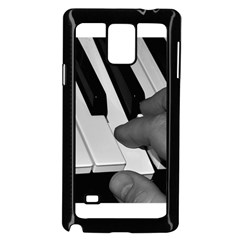 The Piano Player Samsung Galaxy Note 4 Case (black) by timelessartoncanvas