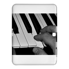 The Piano Player Samsung Galaxy Tab 4 (10 1 ) Hardshell Case  by timelessartoncanvas