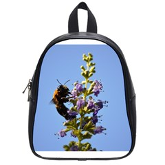 Bumble Bee 1 School Bags (Small)  by timelessartoncanvas