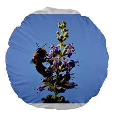 Bumble Bee 1 Large 18  Premium Flano Round Cushions by timelessartoncanvas
