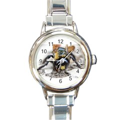 Bumble Bee 2 Round Italian Charm Watches by timelessartoncanvas