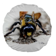 Bumble Bee 2 Large 18  Premium Flano Round Cushions by timelessartoncanvas