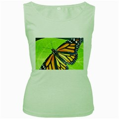 Butterfly 2 Women s Green Tank Tops by timelessartoncanvas