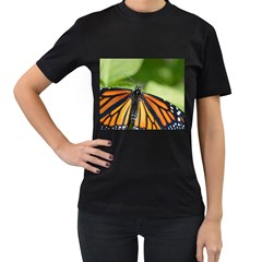 Butterfly 3 Women s T Shirt (black) (two Sided) by timelessartoncanvas