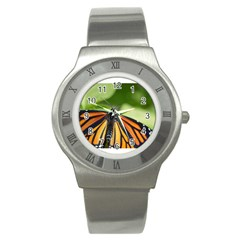 Butterfly 3 Stainless Steel Watches by timelessartoncanvas