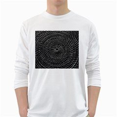 Spinning Out Of Control White Long Sleeve T Shirts
