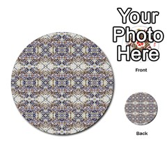 Oriental Geometric Floral Print Multi-purpose Cards (Round)  by dflcprints