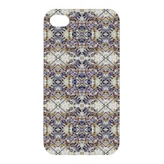 Oriental Geometric Floral Print Apple Iphone 4/4s Premium Hardshell Case by dflcprints