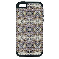 Oriental Geometric Floral Print Apple Iphone 5 Hardshell Case (pc+silicone) by dflcprints