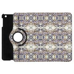 Oriental Geometric Floral Print Apple Ipad Mini Flip 360 Case by dflcprints
