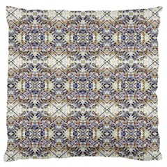 Oriental Geometric Floral Print Standard Flano Cushion Cases (one Side)  by dflcprints