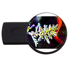 Digitally Enhanced Flower Usb Flash Drive Round (2 Gb)  by timelessartoncanvas